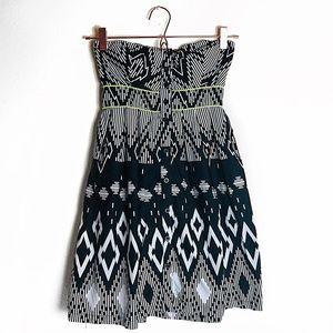 EUC Xhilaration Printed Strapless Cotton Dress S
